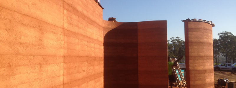 Rammed Earth Walls And Construction Using Red Gravel